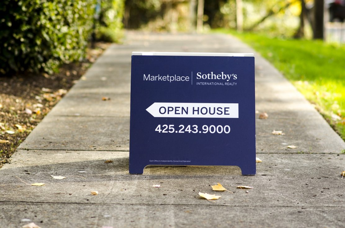 Visit the real estate agent at an open house